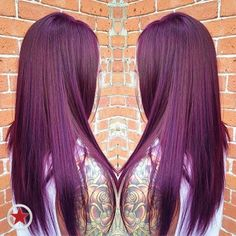 We love this plum colour creation! #haircolour #plum
