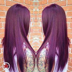 We love this plum colour creation! #haircolour #plum
