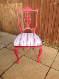 Old pine stool updated with vintage roses in monochrome ...