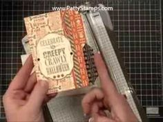 www.PattyStamps.com - how to video for file folder cards created with Envelope Punch Board