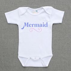 Mermaid Baby Girl, Infant, Toddler, Newborn Bodysuit, Outfit | Urban Baby Co.