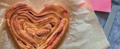 Hefezopf in Herzform