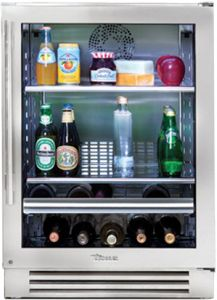 Zero-Clearance Hinging Allows For Integrated Installation/ 2 Adjustable And Removable Stainless Steel Encapsulated Glass Shelves/ 2 Wine Shelves/ Can Hold 13 Bottles Of Wine/ Stainless Steel Finish Glass Door Refrigerator, Undercounter Refrigerator, Beverage Refrigerator, Built In Refrigerator, Stainless Steel Refrigerator, Wine Fridge, Wine Shelves, Wine Storage, Glass Shelves