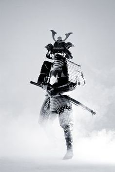 The Samurai - A behind the scenes photo whilest filming a music video for Trei and Thomas Oliver with Sakowski Studios.