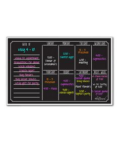Look what I found on #zulily! Black Fluorescent Dry-Erase Weekly Calendar by a'la Board #zulilyfinds