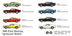 '69 mustang sport model