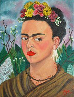 Frida Kahlo Images Sunflower | Portrait de Frida Kahlo par Alyk sur Stars Portraits