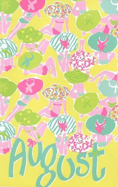 Pink & Green August pattern - pinkpagodastudio: For the Love of Pink -- Lilly Pulitzer August Baby, Hello August, August 5th, August Birthday, Birthday Month, Lilly Pulitzer Prints, Lily Pulitzer, Love Lily, Tumblr