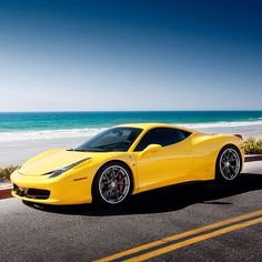 Gorgeous Ferrari 458 Italia. Proving Ferrari's don't always look better in red