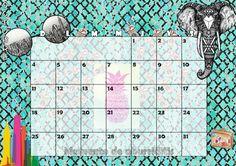Calendario mensual #2015 - #Octubre