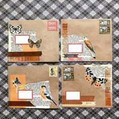 Decorated these kraft envelopes last night. There's really something about Classiky products that make everything turn out beautifully… Mail Art Envelopes, Kraft Envelopes, Envelope Art, Envelope Design, Envelopes Decorados, Snail Mail Pen Pals, Snail Mail Gifts, Pocket Letter, Art Postal