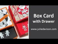 VIDEO Tutorial: Cookie Cutter Christmas Box Card with Shrinky Dink Earrings | Julie's Stamping Spot | Bloglovin'