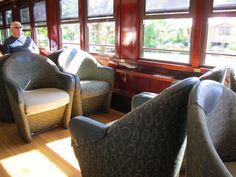 Kuranda Scenic Railway, Australia. Not your typical train seats!