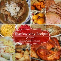 Traditional and classic Deep South favorite Southern Thanksgiving recipes all from Deep South Dish!