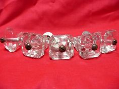 1 1/4 Vintage Glass Drawer Pulls  Handles by yesteryearshome, $16.00