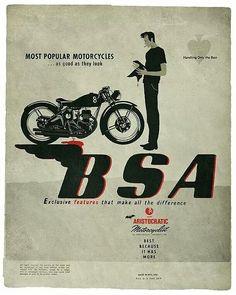 BSA motorcycle 1950s