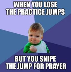 Pretty much. #quizzing #practicejumps #jumpforprayer