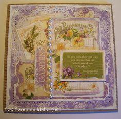 Graphic 45 Secret Garden Card by Amy Kluchesky.