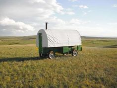 <p>This fully restored 1920s sheep wagon sits on the 30,000-acre Heward family ranch in Shirley Basi... - Courtesy of the Heward Family