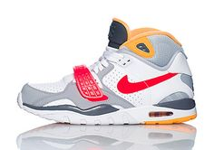 Nike Air Trainer SC II High | White, Grey, Red, and Yellow