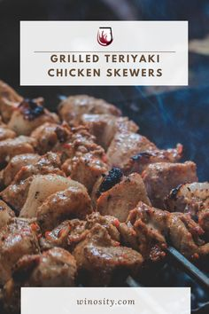 These grilled chicken skewers are marinated with a homemade teriyaki sauce and cooked to perfection. Juicy and flavorful marinated teriyaki chicken skewers are an excellent quick and easy dinner or lunch recipe. An amazing chicken recipe that can be a great food pairing with wines. #recipeswithchicken #chickenwithteriyakisauce #easychickenteriyaki #teriyakichickenskewers #wineanddinner #foodandwinerecipes Cooking Icon, Cooking Chef, Cooking Turkey, Fun Cooking, Cooking Recipes, Cooking Aprons, Cooking Light, Cooking Timer, Cooking Torch