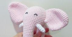 Cute Crochet, Crochet Dolls, Crochet Hats, Knitting Projects, Crochet Projects, Handmade Baby, Handmade Gifts, Crochet Elephant, Amigurumi Tutorial
