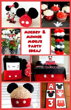 Mickey & Minnie Mouse Party Ideas for a Mickey Mouse Birthday Party #MickeyMouseParty #MinnieMouseParty #TwoSistersCrafting