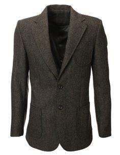 FLATSEVEN Mens Herringbone Wool Blazer Jacket with Elbow Patches (BJ902) Khaki, L FLATSEVEN http://www.amazon.com/dp/B00ITFKRGK/ref=cm_sw_r_pi_dp_0Yh1ub1V236AX