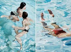 These hyper-realistic paintings by Spanish artist Josep Moncada Juaneda have me yearning for a refreshing dip in the pool. Summer, where art thou?