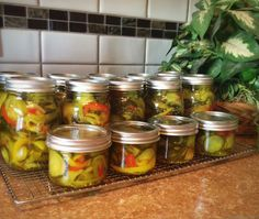Yum Yums Pickles w/onions and red/yellow peppers (Skip the green!) 6 quarts...
