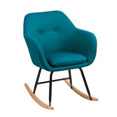 Fauteuil à bascule en tissu bleu pétrole  - Emilia salon -  - Décoration intérieur - Alinéa