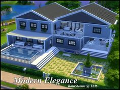 sims house inspo RainStorms' Modern Elegance The Effective Pictures We Offer You About indoor pool i Sims 4 Modern House, Sims 2 House, Sims 4 House Building, Sims 4 House Design, Sims House Plans, Sims 3, Lotes The Sims 4, Minecraft House Plans, Sims 4 Family