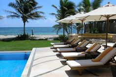 Villa Palmilla - For those who appreciate the fine things, enjoy this spectacular Riviera Maya beach front! Beach Vacation Rentals, Vacation Villas, Luxury Services, Riviera Maya, Private Pool, Luxury Villa, Sun Lounger, Perfect Place, Kayaking