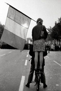 by Henri Cartier-Bresson, in May 1968, during the student rebellion in Paris, France.
