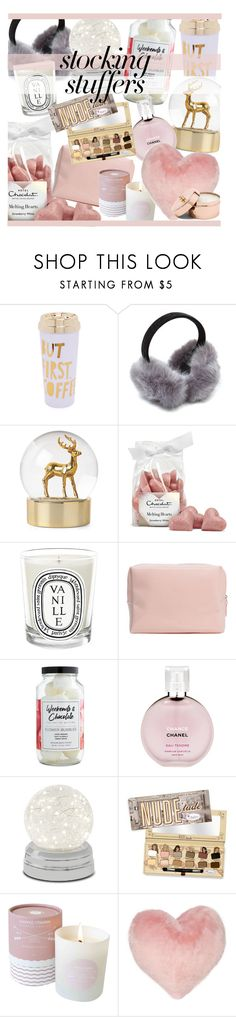 """""""#PolyPresents: Stocking Stuffers"""" by okihyunie ❤ liked on Polyvore featuring ban.do, Diptyque, Fizz & Bubble, Chanel, Nordstrom Rack, contestentry and polyPresents"""