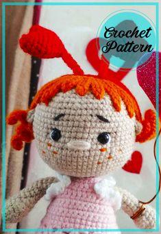 Crochet Patterns Amigurumi, Amigurumi Doll, Crochet Dolls, Very Cute Baby, Cute Baby Girl, Girls With Red Hair, Baby Girl Dolls, Bobble Stitch, How To Start Knitting