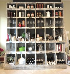 kitchen storage shelving...would love a display piece like this my store!!