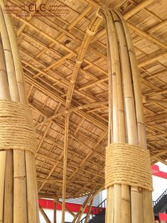 Bamboo Gates at Torch - Bamboo Earth Architecture - Chiangmai Life Construction Bamboo Building, Natural Building, Green Building, Timber Architecture, Sustainable Architecture, Architecture Design, Bamboo Bamboo, Bamboo Fence, Bamboo House Design