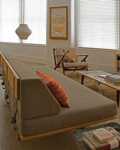 Modernica  is reducing all inventory by 15% through Oct. 24. The Case Study daybed shown here, regularly $1,895, is now $1,610.75. Even the newly reissued  George Nelson Net lamps  are included in the sale.