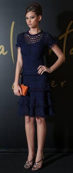 crochet dress by Vanessa Montoro