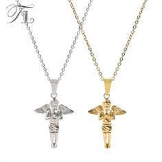$19.88 - Angel Boy Necklace (Buy this item for FREE SHIPPING) Angel Wing Necklace, Arrow Necklace, Pendant Necklace, Necklace Types, Angel Wings, Necklace Designs, Types Of Metal, Necklaces, Free Shipping