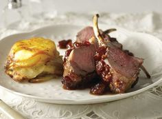Lamb With Cherry Sauce and French-Style Buttered Potatoes Recipe from #PublixAprons