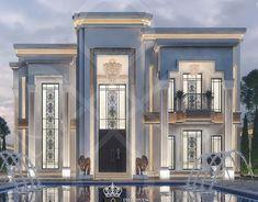 Classic House Exterior, Classic House Design, Dream House Exterior, House Outside Design, House Front Design, Architect Design House, Pool House Plans, Modern Villa Design, Neoclassical Architecture