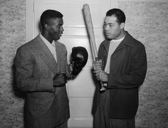 Jackie Robinson and Joe Louis (1946)