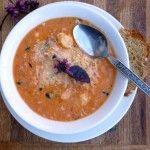 Tomato White Cheddar Gnocchi Soup ~ Sumptuous Spoonfuls #soup #recipe