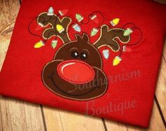 Boys Christmas Shirt Reindeer Shirt by Southernismboutique on Etsy