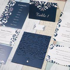 Assortiment pour mariage - Pochette, faire-part et la papeterie - moderne et…