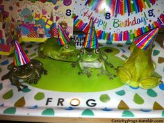 Sticky Frogs — Today is a Very Exciting Day! Amphibians, Reptiles, Pet Frogs, Frog Pictures, Frog Art, Frog And Toad, Cute Animals, Happy Birthday, Creatures