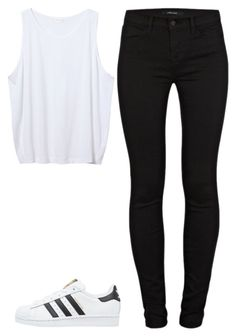"""""""Unbenannt #3220"""" by mund-tot ❤ liked on Polyvore featuring J Brand, Zara and adidas Originals"""