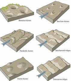 Aeolian (Dunes) Landforms - Geology (U. Guadalupe Mountains National Park, Channel Islands National Park, Physical Geography, Earth From Space, Park Service, Earth Science, Cartography, Global Warming, Archaeology